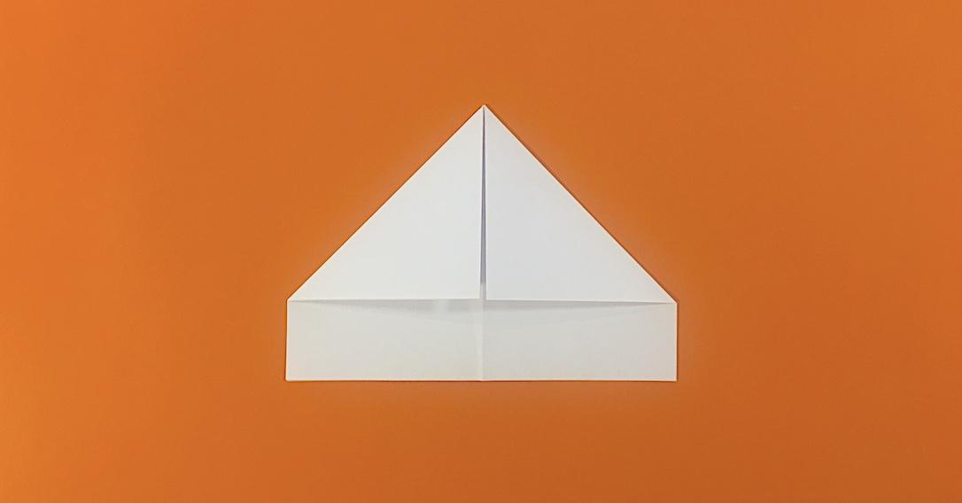 fold the top left corner into the centre