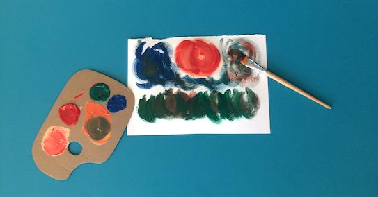 Cardboard Artist Palette Craft | toucanBox