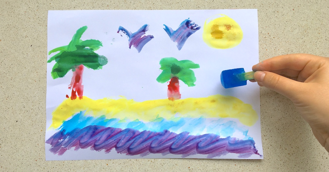 Ice Cube Painting - Sensory Art Activity | toucanBox