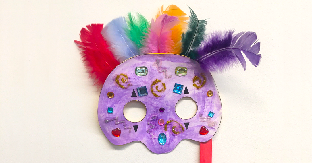 Mardi Gras Mask Printable | Party Craft