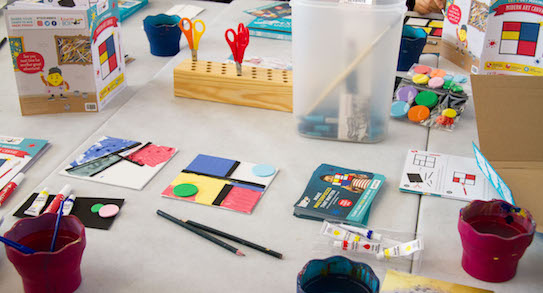the toucanBox craft table at the Affordable Art Fair