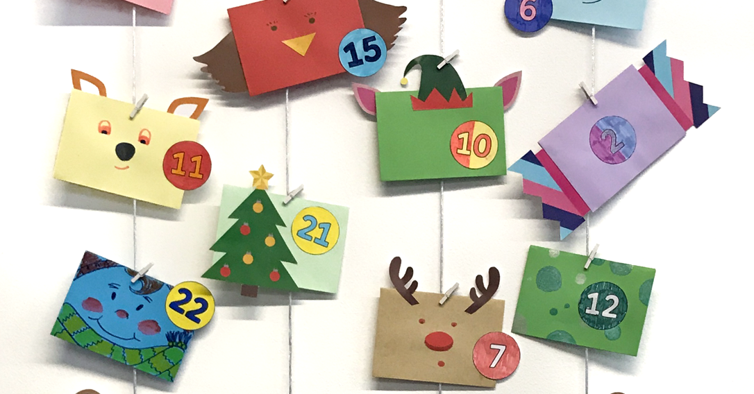 Homemade cute friends advent calendar