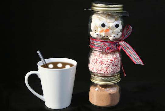 snowman hot chocolate gift