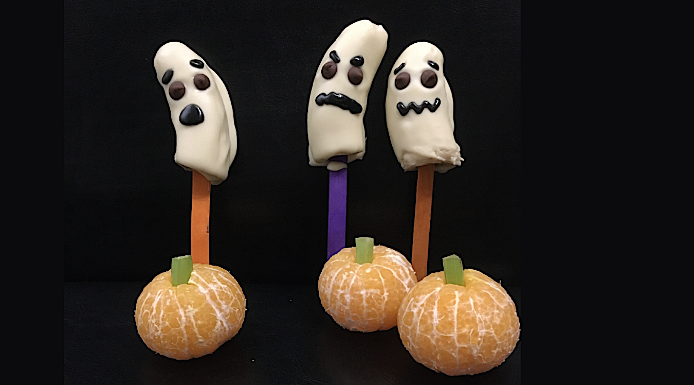 Boo-nana Pops | Simple Kids Halloween Recipe | toucanBox