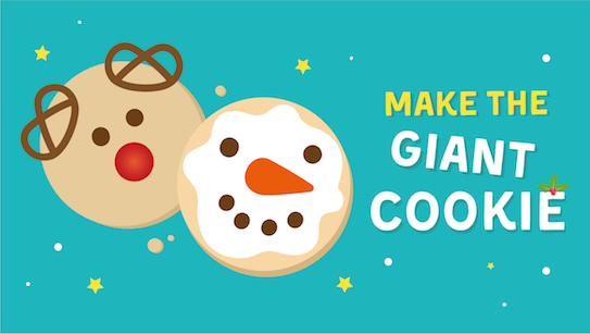 Make giant cookies