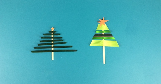 Two Christmas tree decorations