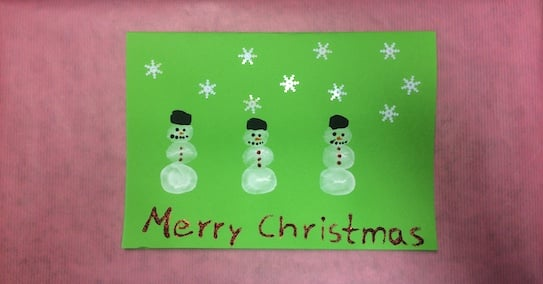 Snowmen handprint cards