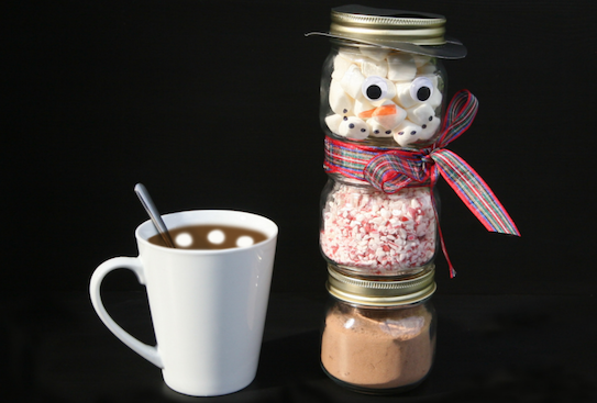Snowman hot chocolate gift set