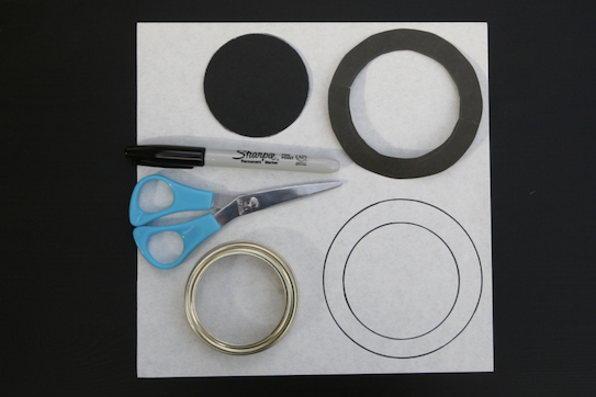 Use the jar to trace circles on paper