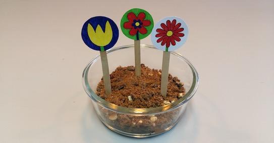 Flower pot chocolate