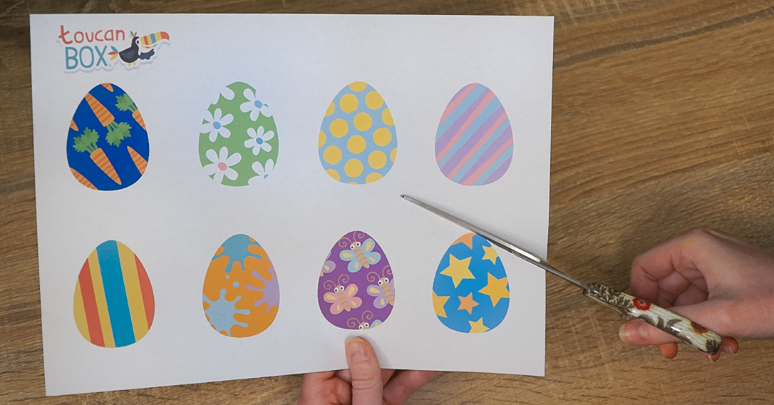 cut out the egg templates