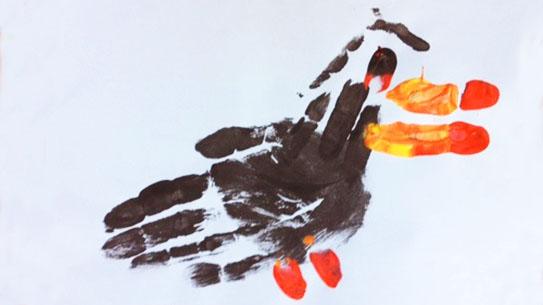 Toucan hand-print art