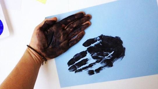 hand-print art