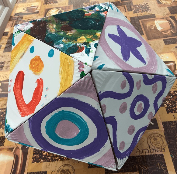 A hand crafted icosahedron