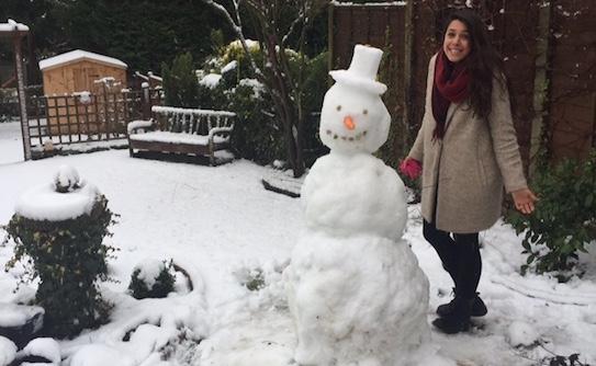 Renata's first snowman