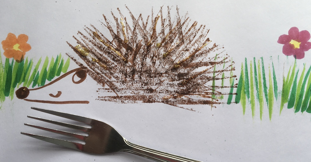 hedgehog fork painting