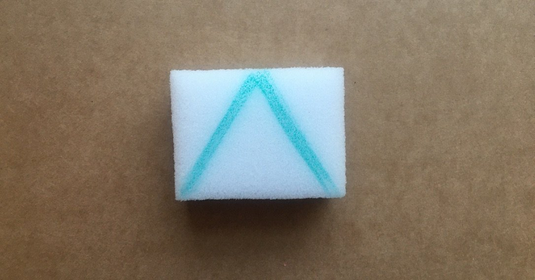 draw a shape onto the sponge