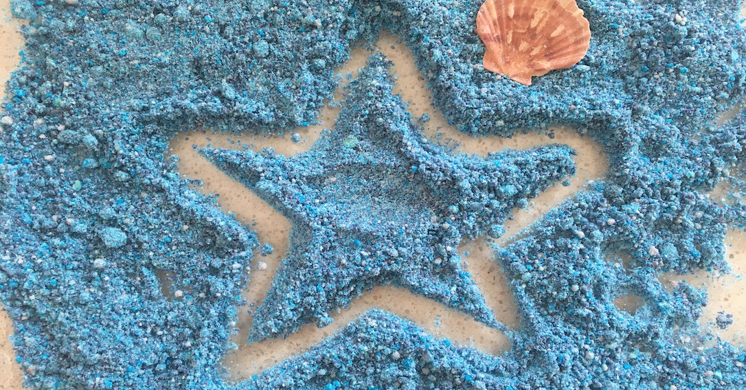 a sandy starfish
