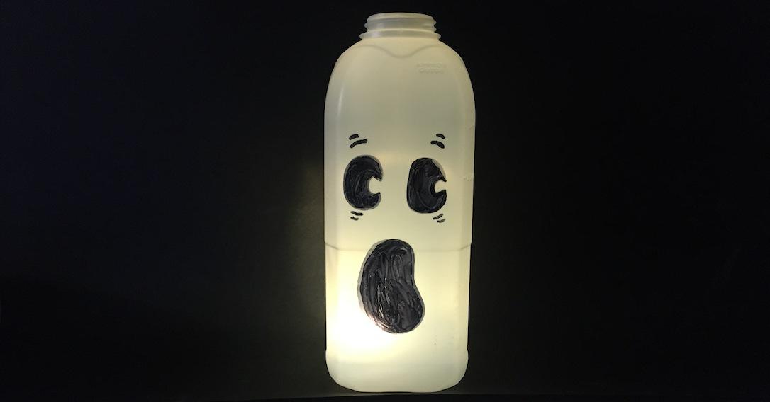 milk bottle ghosts