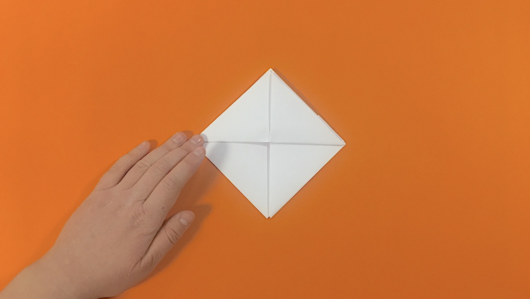 fold the bottom point to the top point