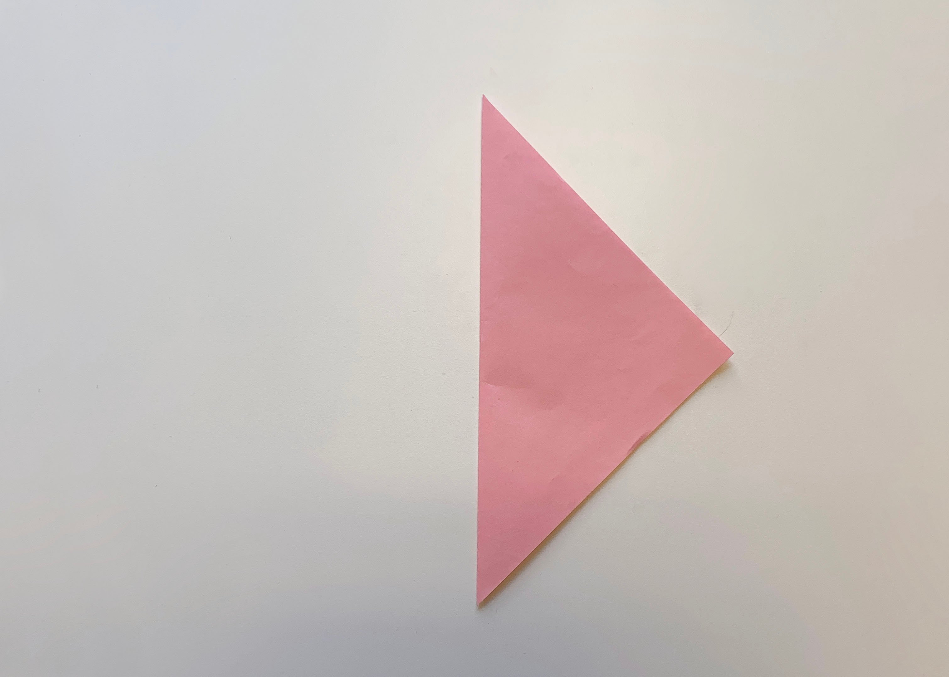 fold the square lengthways