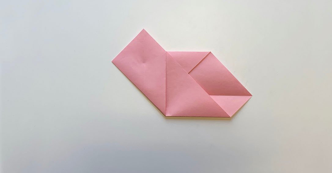 fold the left and right edges into the centre
