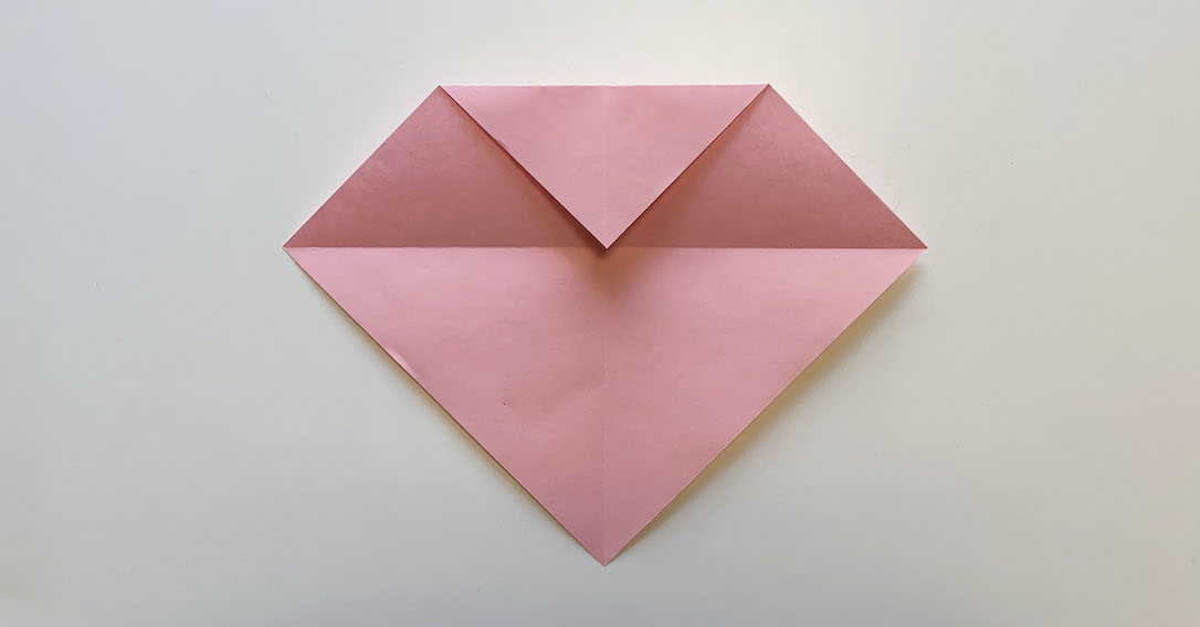 fold the top corner to the centre
