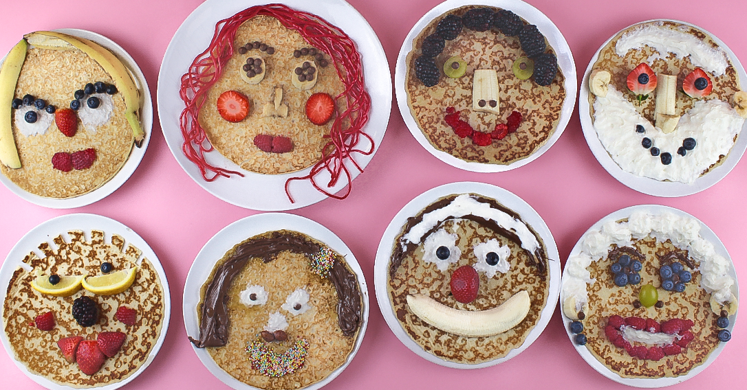 Pancake Portraits | Pancake Day Recipe