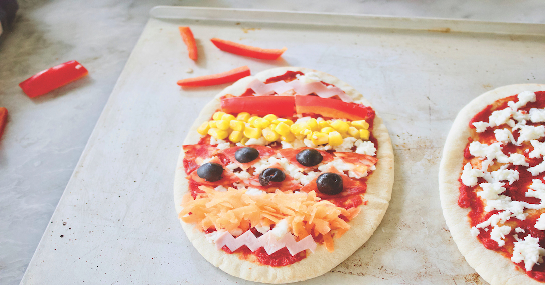 decorate with toppings