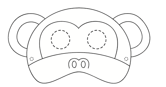 toucanBox monkey mask download