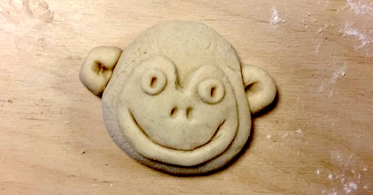 Salt dough monkey