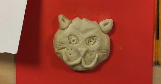 Salt dough cat