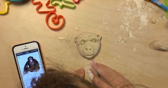 Salt dough monkey