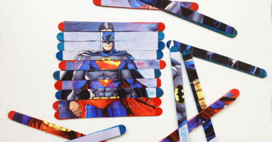 two superheroes craft puzzle