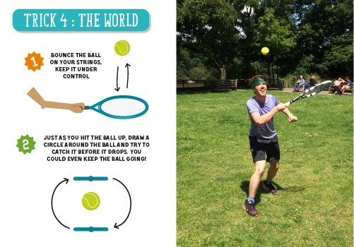 Tennis trick the world