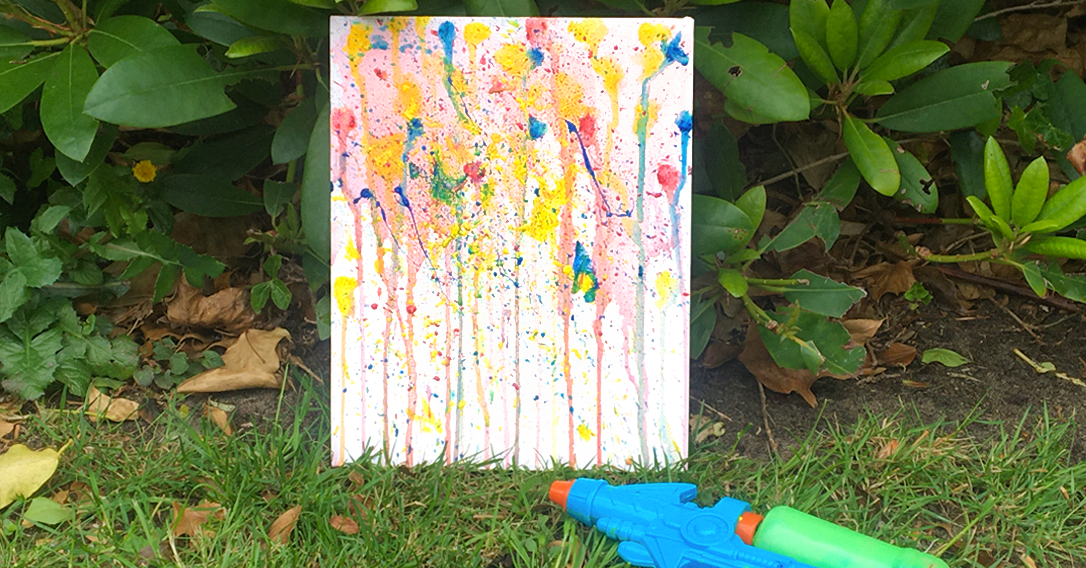 Water Pistol Painting | Outdoor Art Activity